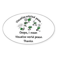 Whirled Green Peas Oval Decal