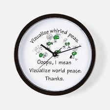 Whirled Green Peas  Wall Clock