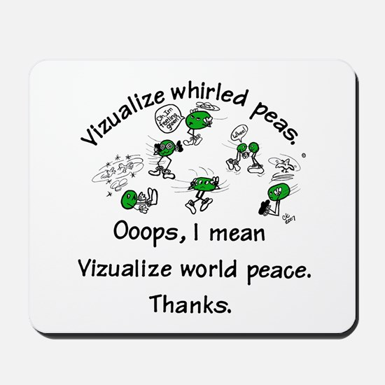 Whirled Green Peas  Mousepad