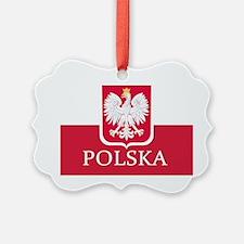 Polska Polish Flag Ornament