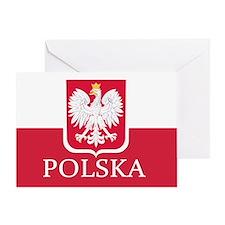 Polska Polish Flag Greeting Cards