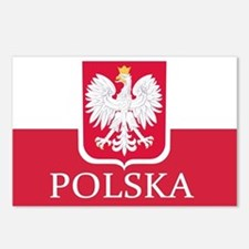 Polska Polish Flag Postcards (Package of 8)