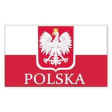 Polska Polish Flag Decal