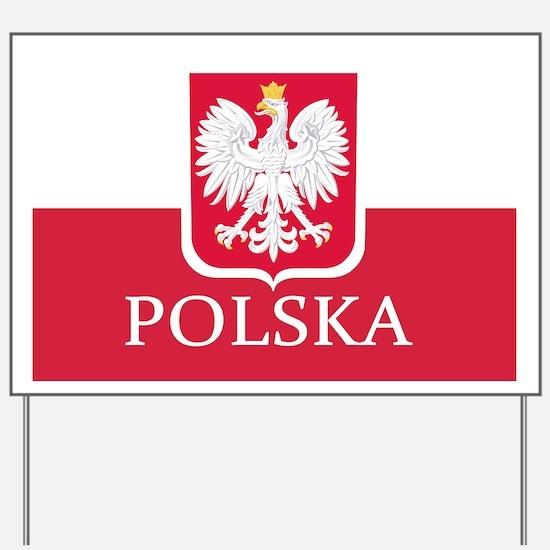 Polska Polish Flag Yard Sign