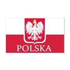 Polska Polish Flag Rectangle Car Magnet