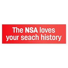 The NSA Loves Bumper Bumper Sticker