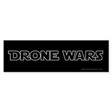 Drone Wars Bumper Car Sticker