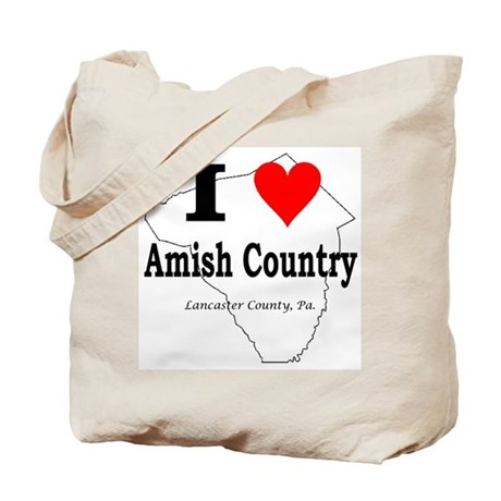 I Love Amish Tote Bag