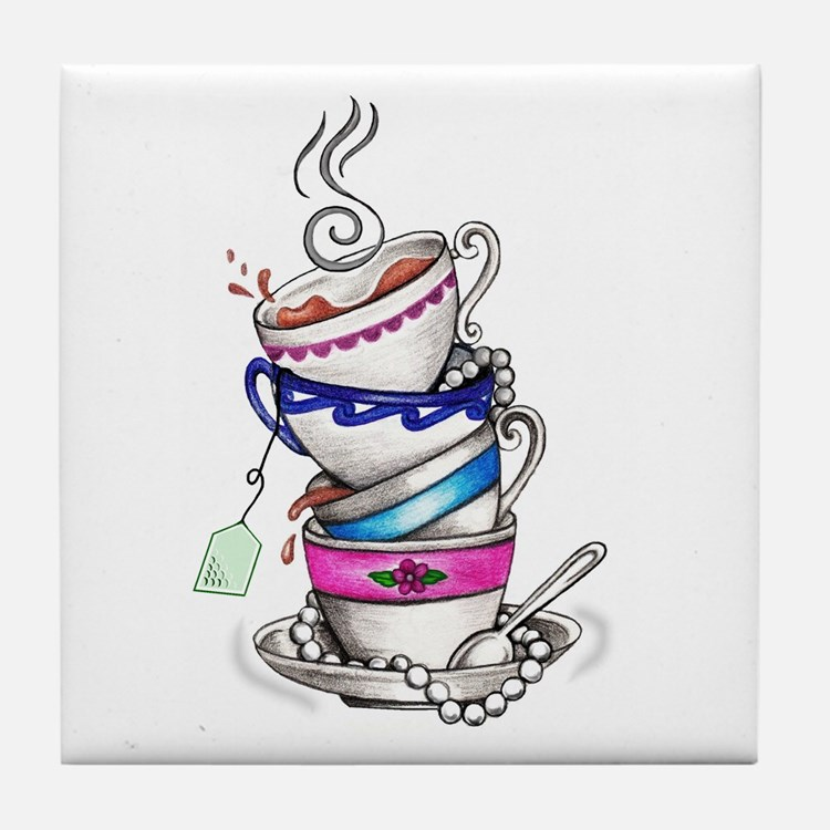 Tea for Four Tile Coaster