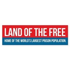 Land of the Free Bumper Bumper Sticker