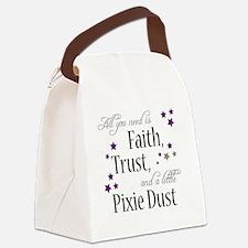 Faith, Trust, Pixie Dust Canvas Lunch Bag