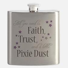 Faith, Trust, Pixie Dust Flask