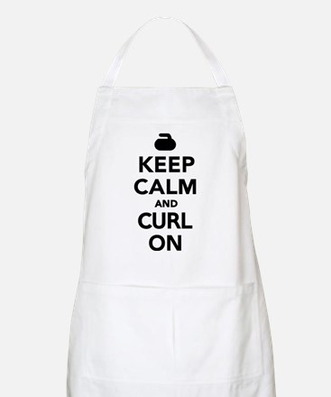 Keep calm and curl on Apron