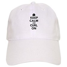 Keep calm and curl on Baseball Cap