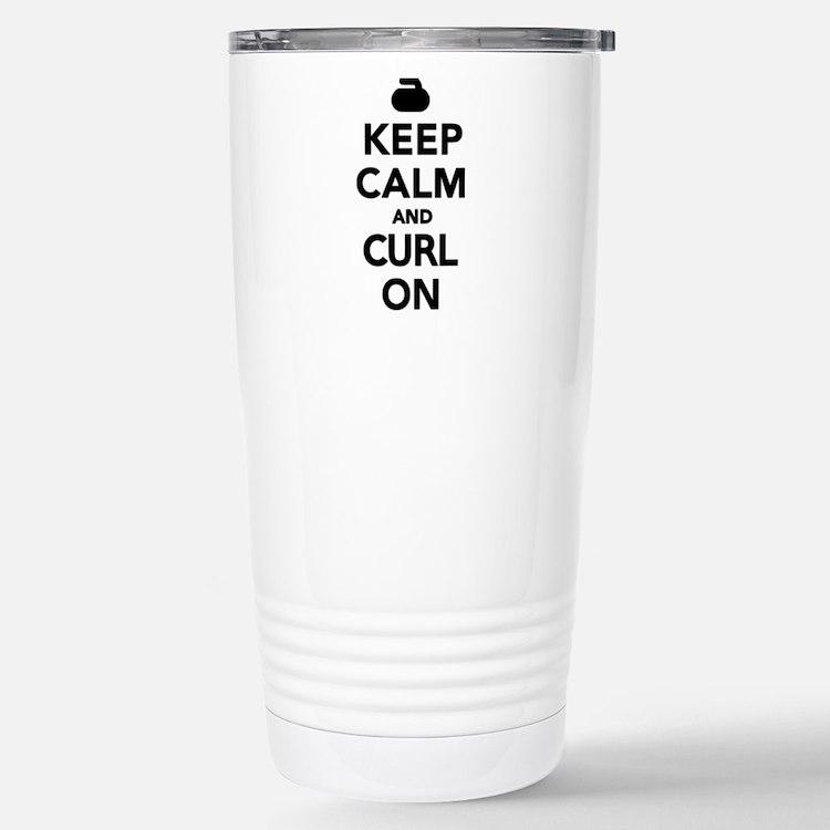 Keep calm and curl on Travel Mug