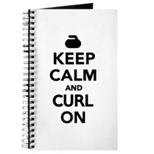 Keep calm and curl on Journal