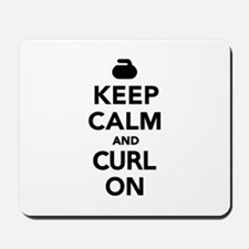 Keep calm and curl on Mousepad