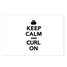 Keep calm and curl on Postcards (Package of 8)