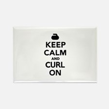Keep calm and curl on Rectangle Magnet