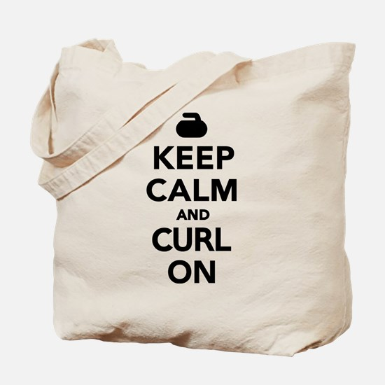 Keep calm and curl on Tote Bag