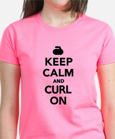 Keep calm and curl on Tee