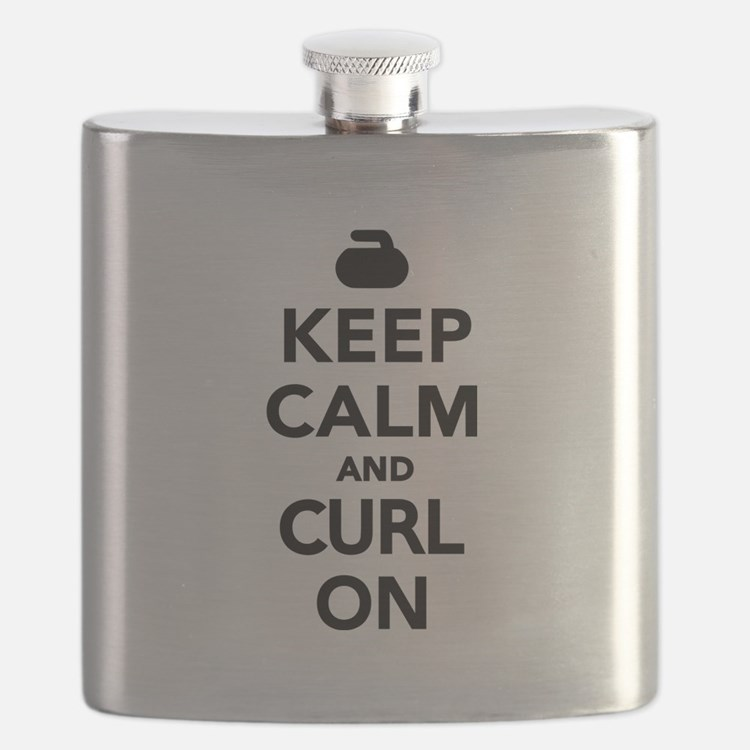 Keep calm and curl on Flask