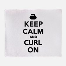 Keep calm and curl on Throw Blanket