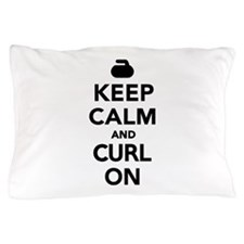 Keep calm and curl on Pillow Case