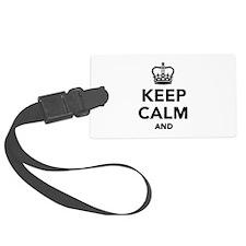 Keep calm and Luggage Tag