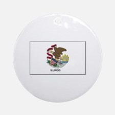 Illinois Flag Ornament (Round)