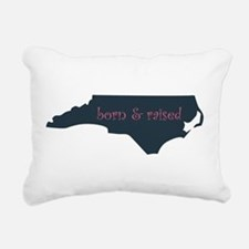 NC Born & Raised Rectangular Canvas Pillow