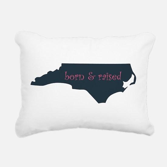 NC Born & Raised Rectangular Canvas Pillow