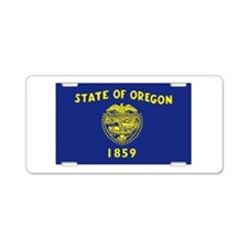 Oregon Flag Aluminum License Plate