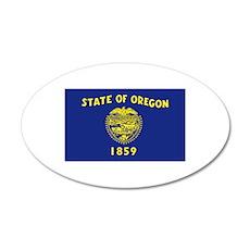 Oregon Flag Wall Decal