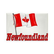 Canada Flag - Newfoundland Rectangle Magnet
