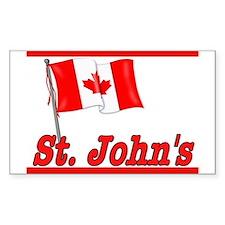 Canada Flag - St. John's Text Sticker (Rectangular