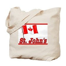 Canada Flag - St. John's Text Tote Bag