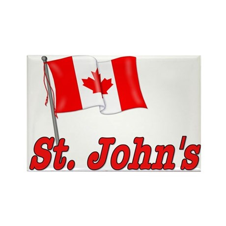 Canada Flag - St. John's Text Rectangle Magnet (10