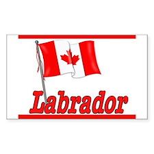 Canada Flag - Labrador Rectangle Decal
