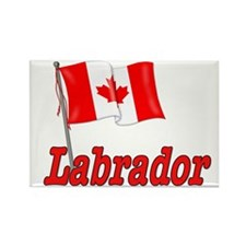 Canada Flag - Labrador Rectangle Magnet