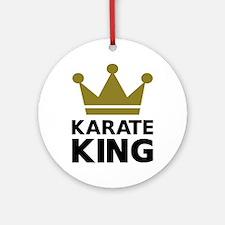 Karate king champion Ornament (Round)