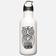 Graphic Owl Water Bottle