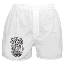 Graphic Owl Boxer Shorts