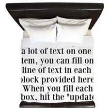 Lines of Text to Personalize King Duvet