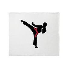 Martial arts Karate kick Throw Blanket