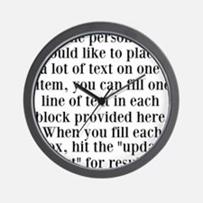 Lines of Text to Personalize Wall Clock