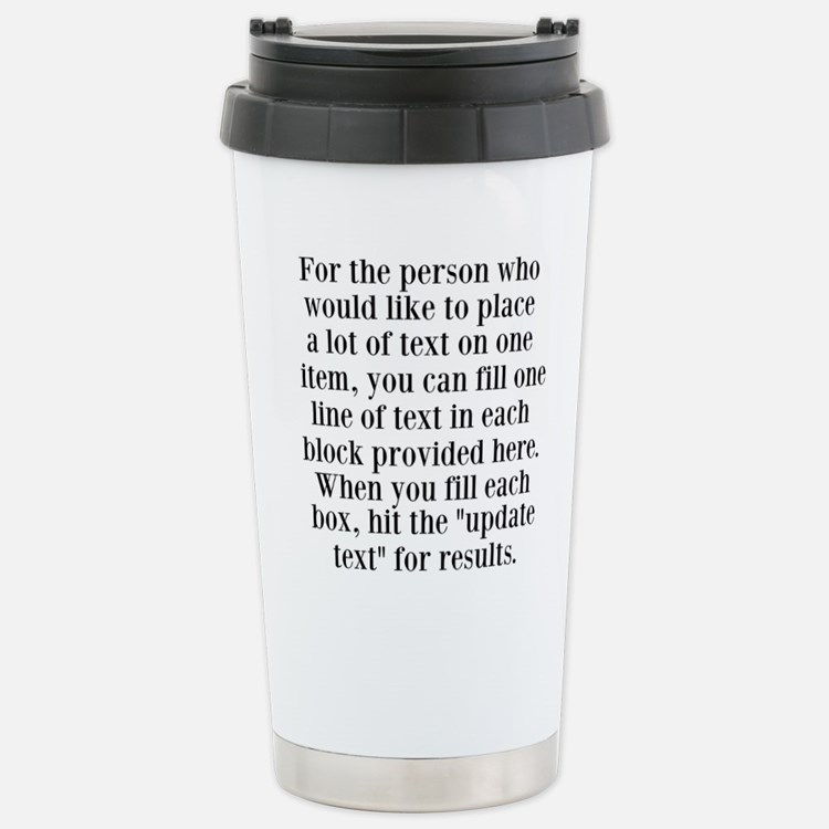 Lines of Text to Personalize Travel Mug