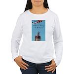 A Woman Belongs on a Pedestal Women's Long Sleeve