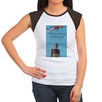 A Woman Belongs on a Pedestal Women's Cap Sleeve T