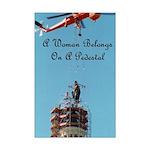 A Woman Belongs on a Pedestal Mini Poster Print